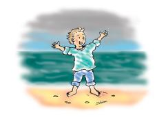 beach-boy-bendigo-weekly-illustration
