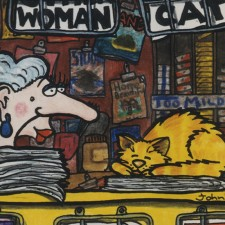 Woman & Cart Cartoon