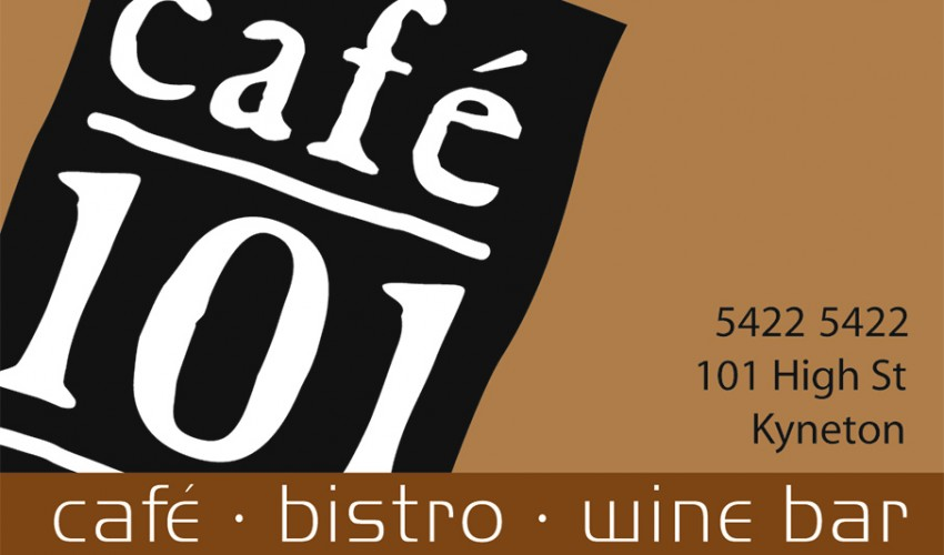 Cafe 101 Bendigo- Business Card