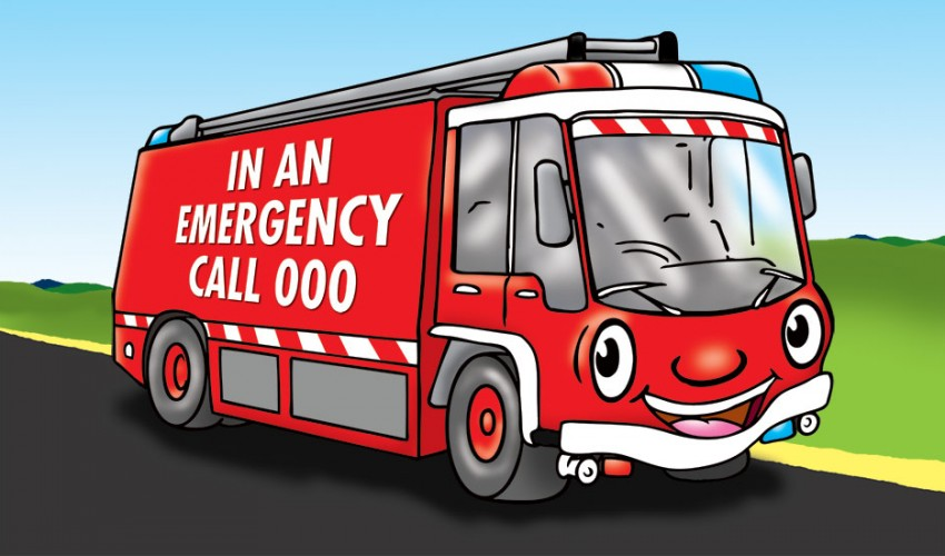 Emergency Services Postcard